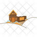Winter House Snow Icon