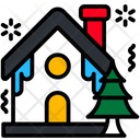 House Winter Tree Icon