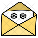 Snowflake On Paper Winter Message Winter Card Icon