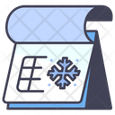 Winter Snow Calendar Icon