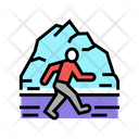 Winter Running Color Icon