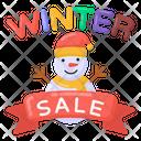 Winter Sale Winter Sale Emblem Season Sale Icon