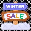 Sale Signboard Winter Sale Sign Sale Roadboard Icon