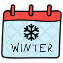 Calendar Winter Calendar Winter Schedule Icon
