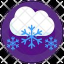 Snowy Weather Snowy Season Winter Season Icon