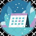 Winter Activity Calendar Icon