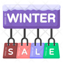 Winter Sale Winter Shopping Winter Shopping Sale Icon