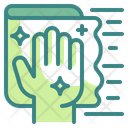Wipe Cleaning Dust Icon