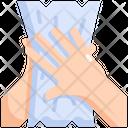 Tissue Paper Hand Icon