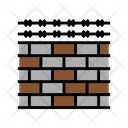Wire Fencing Brick Wall Fence Icon
