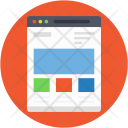 Wireframe Website Web Icon
