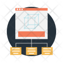 Wireframe Modular Template Icon