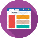 Wireframe Web Browser Icon