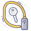 Wire Lock Safety Secure Icon