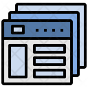 Wireframe Layout Webpage Icon