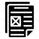 Official Paper Official Document Wireframe Icon