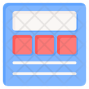 Wireframe Web Template Icon