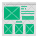 Wireframe Website Layout Icon