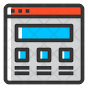 Wireframe Layout Website Icon