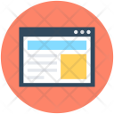 Wireframe Web Layout Icon
