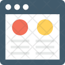 Wireframe Web Designing Icon