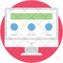 Wireframe Monitor Web Icon