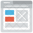 Web Layouts Design Icon