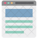 Wireframe Web Web Designing Icon