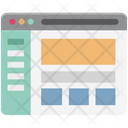 Online Article Blog Web Dashboard Icon