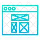 Web Wireframe Webpage Website Icon