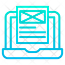 Wireframe Laptop Icon