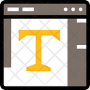 Wireframe Text Wireframe Text Icon