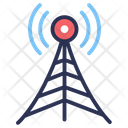 Wireless Antenna Connection Cloud Icon