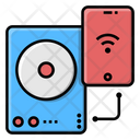 Wireless Charger Wireless Hard Disk Connection Icon
