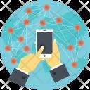 Wireless Communication Network Icon
