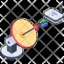 Wireless Communication Parabolic Satellite Communication Satellite Icon