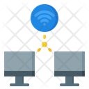 Wireless Computer Connection Icon