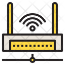 Wireless Connection Network Database Icon