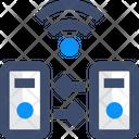 Wireless Data Transfer Icon