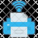 Printer Print Wifi Icon