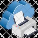 Cloud Computing Printer Icon