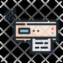 Printer Computer Wifi Icon
