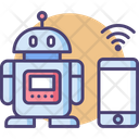 Wireless Robot Mobile Control Robot Machine Icon