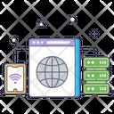 Wireless Server Network Icon