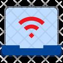 Wireless Signals Network Fidelity Laptop Screen Icon