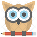 Wisdom Owl Pencil Icon