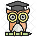 Wisdom Owl Education Icon