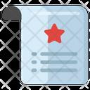 Wishlist Favorite Document Best Document Icon