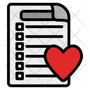 Wishlist Paper Commerce Icon