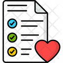 Wishlist Heart Clipboard Icon